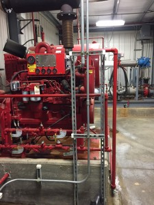 Emergency diesel generator for fire pumps