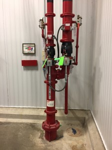 Fire suppression stand pipe zone 1